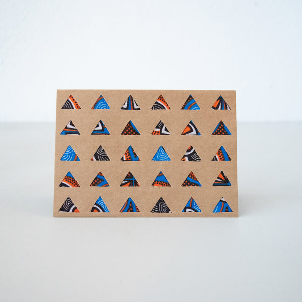 Triangles Card - Kenyan materials and design for a fair trade boutique