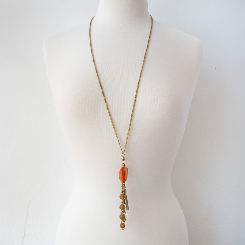 Agate Pendant Necklace - Kenyan materials and design for a fair trade boutique