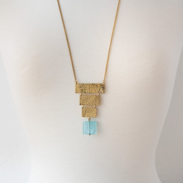 Brass Plates Necklace - Kenyan materials and design for a fair trade boutique