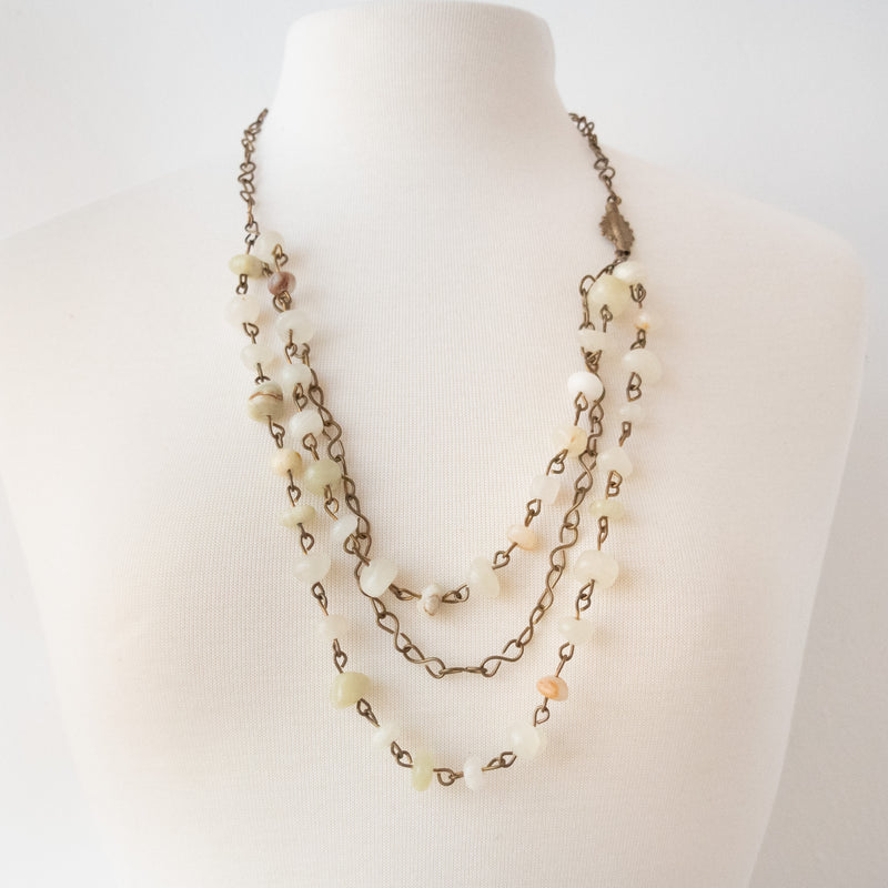 Moonstone Necklace - Kenyan materials and design for a fair trade boutique