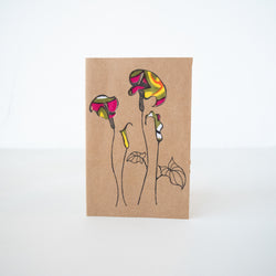 Peace Lily Card - Kenyan materials and design for a fair trade boutique