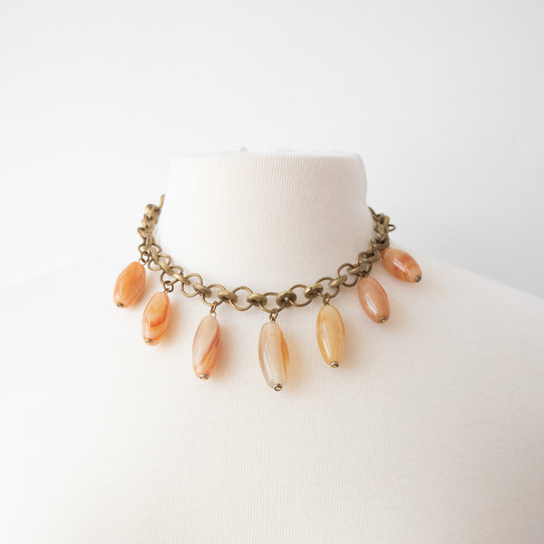 Chunky Stone Necklace - Kenyan materials and design for a fair trade boutique