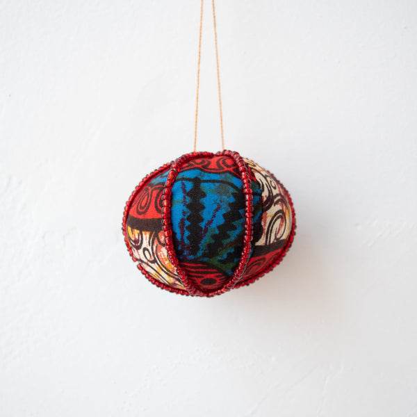 Mini Kitenge Ball Ornament - Kenyan materials and design for a fair trade boutique