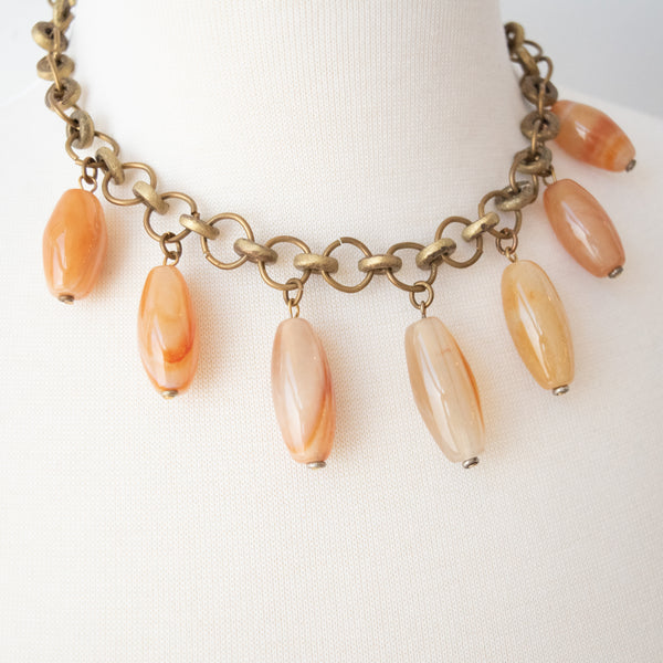 Gemstone Necklace - Kenyan materials and design for a fair trade boutique