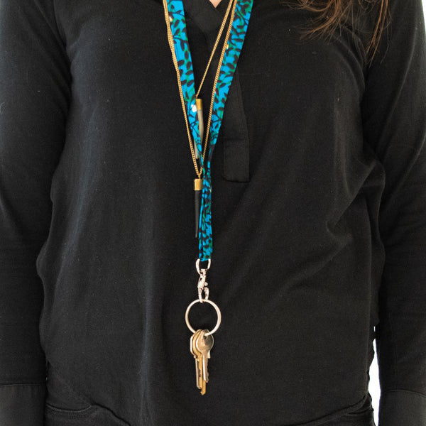 Kitenge Lanyard - Kenyan materials and design for a fair trade boutique