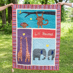 'Lil Peanut' Baby Quilt - Kenyan materials and design for a fair trade boutique