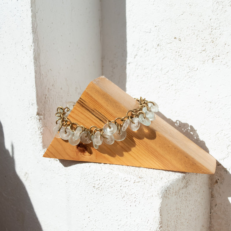 Glass Lace Bracelet - Kenyan materials and design for a fair trade boutique