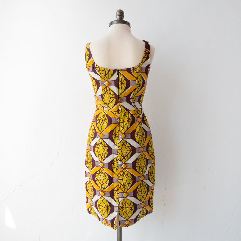 Amber Diamonds Dress - Size 0 - Kenyan materials and design for a fair trade boutique