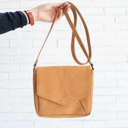 Arrows Leather Satchel - Kenyan materials and design for a fair trade boutique