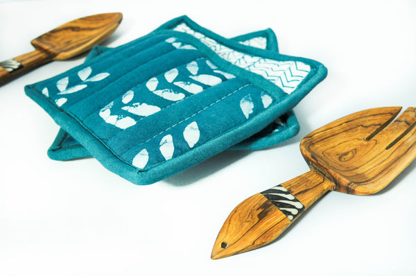 Limited Batik Hot Pad & Spoon Set - Kenyan materials and design for a fair trade boutique