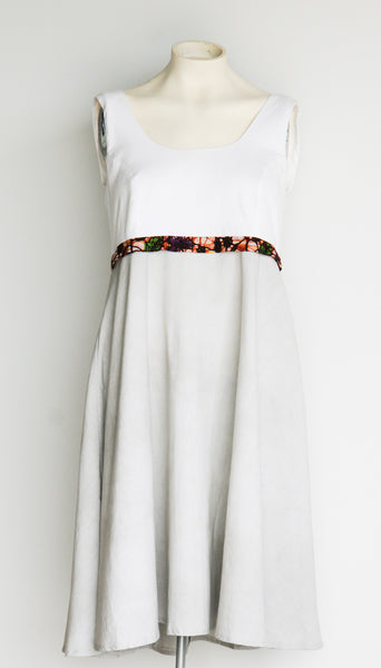 Cream & Gray High Waisted Sundress