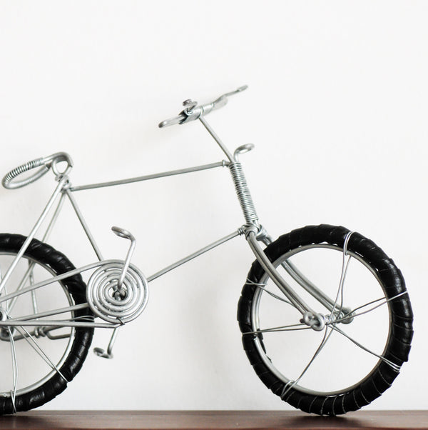 Wire Bicycle - Kenyan materials and design for a fair trade boutique