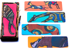 Safari Bookmark Set - Kenyan materials and design for a fair trade boutique