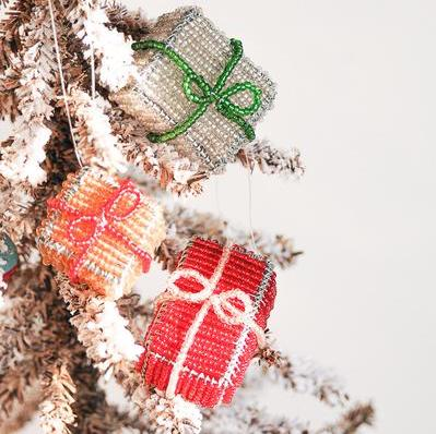 Gift Package Ornament Set - Kenyan materials and design for a fair trade boutique