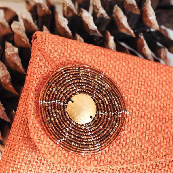 Jute Clutch - Kenyan materials and design for a fair trade boutique