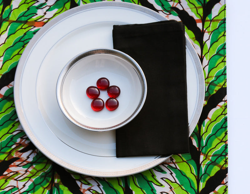 Kitenge Placemat Set/4 - Kenyan materials and design for a fair trade boutique