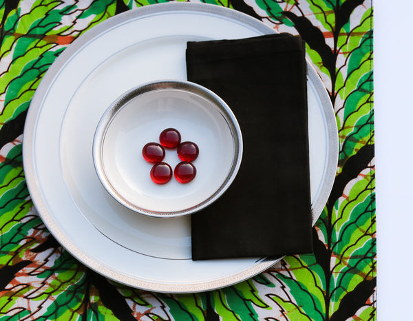 Kitenge Placemat Set/4 with napkins