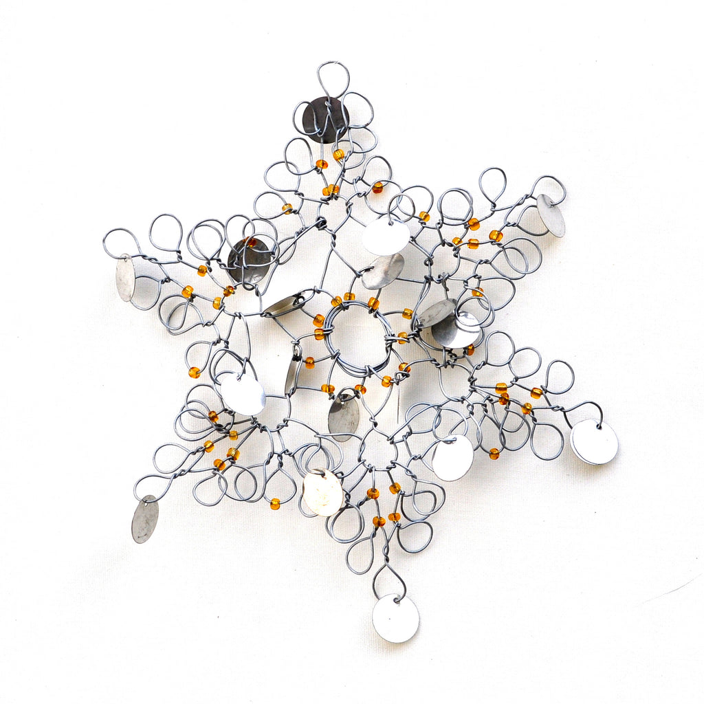 African Snowflake Wire Ornament