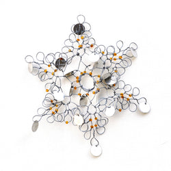 Snowflake Wire Ornament - Kenyan materials and design for a fair trade boutique
