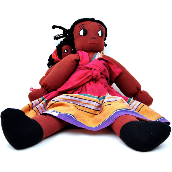 Kikoy Mama and Baby Doll Set - Kenyan materials and design for a fair trade boutique