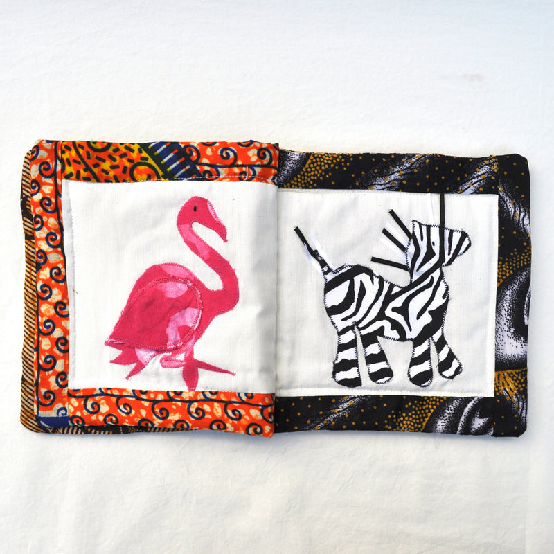 Safari Baby Book - Kenyan materials and design for a fair trade boutique