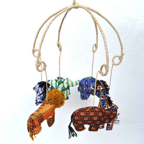 Kitenge Animal Mobile - Kenyan materials and design for a fair trade boutique