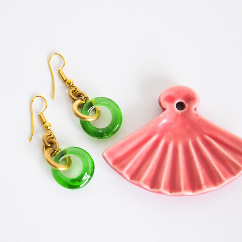 Glass Ring Earrings