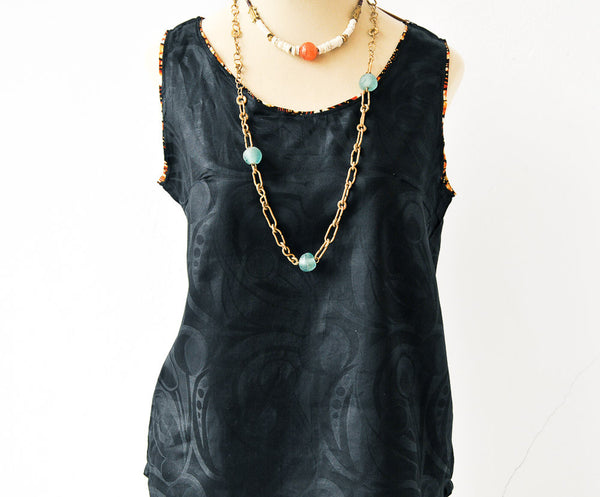 Chevron Tank Top - Kenyan materials and design for a fair trade boutique