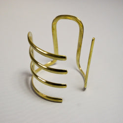 Amani Brass Cuff - Kenyan materials and design for a fair trade boutique