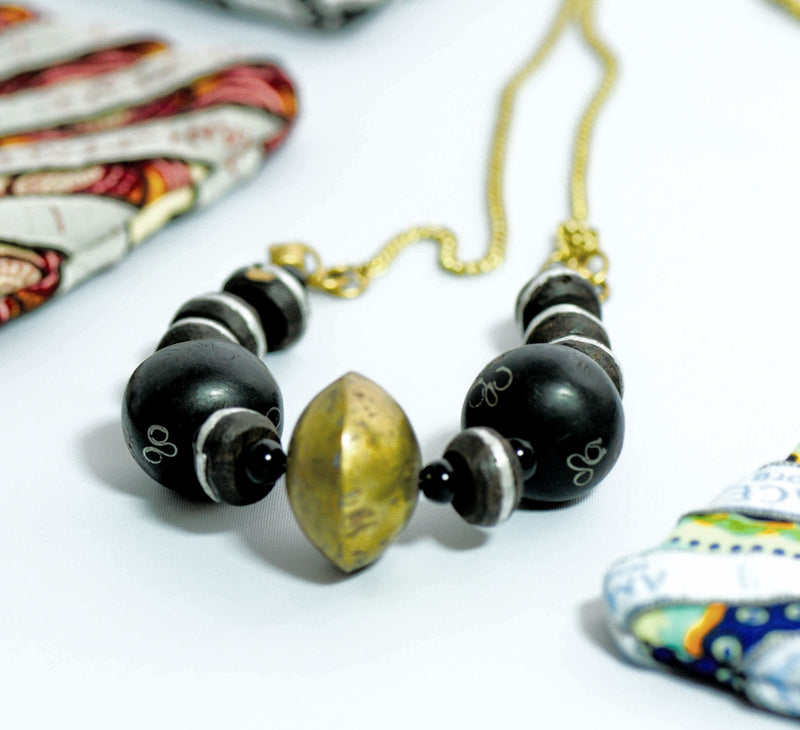 Mali Bead Necklace - Kenyan materials and design for a fair trade boutique