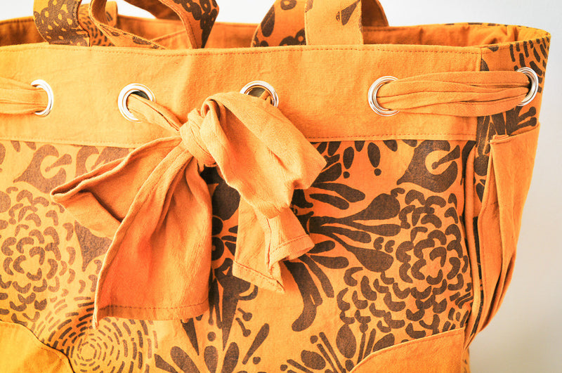 On-The-Go Bag - Kenyan materials and design for a fair trade boutique