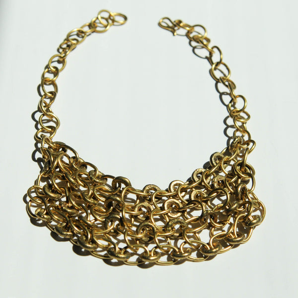 Brass Chain Collar - Kenyan materials and design for a fair trade boutique