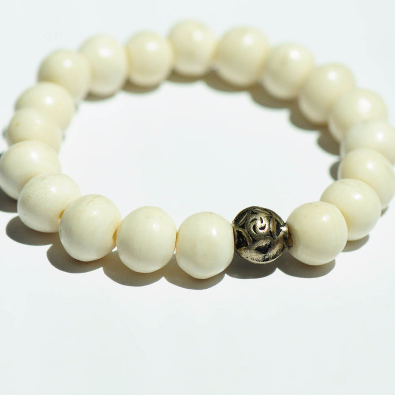 White Bone Bracelet - Kenyan materials and design for a fair trade boutique