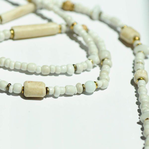 Beach Strand Necklace - Kenyan materials and design for a fair trade boutique