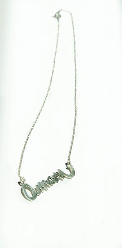 Amani Silver Necklace - Kenyan materials and design for a fair trade boutique