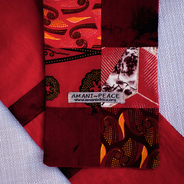 Kitenge Patch Pastor Stole - Kenyan materials and design for a fair trade boutique