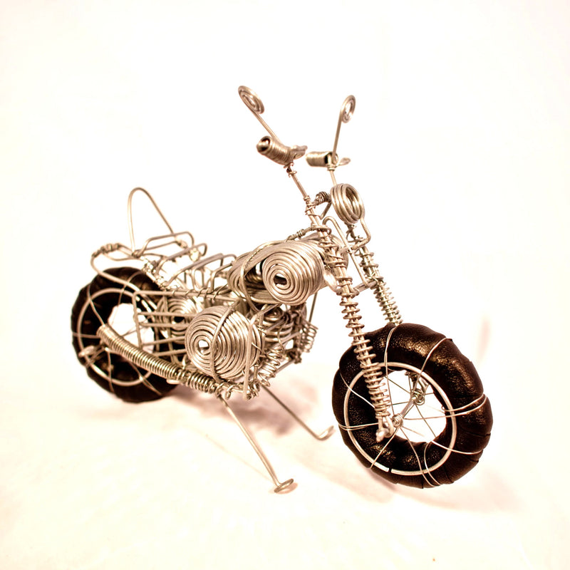 Wire Motorcycle - Kenyan materials and design for a fair trade boutique