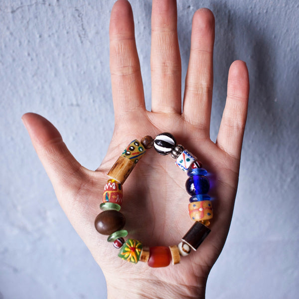 Trade Bead Bracelet - Kenyan materials and design for a fair trade boutique