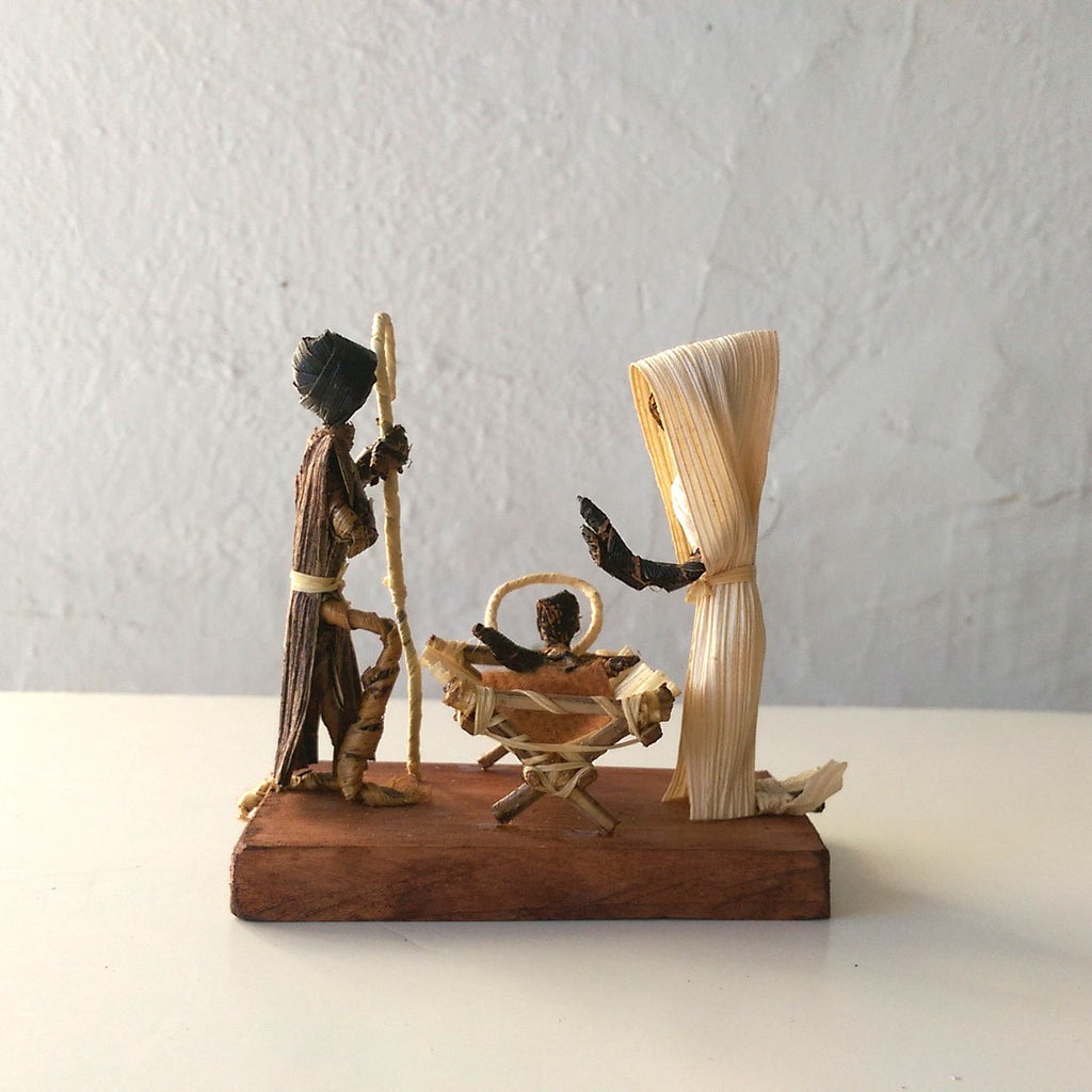 Mini Banana Leaf Nativity Set - Kenyan materials and design for a fair trade boutique
