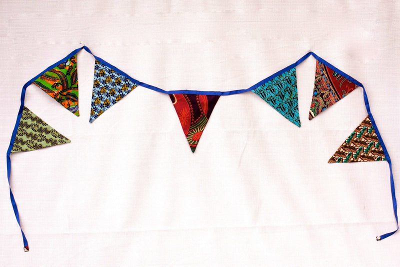 Flag Garland - Kenyan materials and design for a fair trade boutique