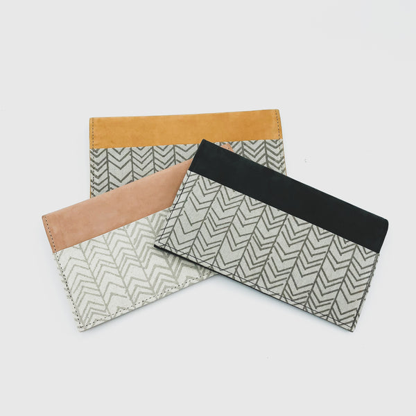 Folding Leather Wallet - Kenyan materials and design for a fair trade boutique