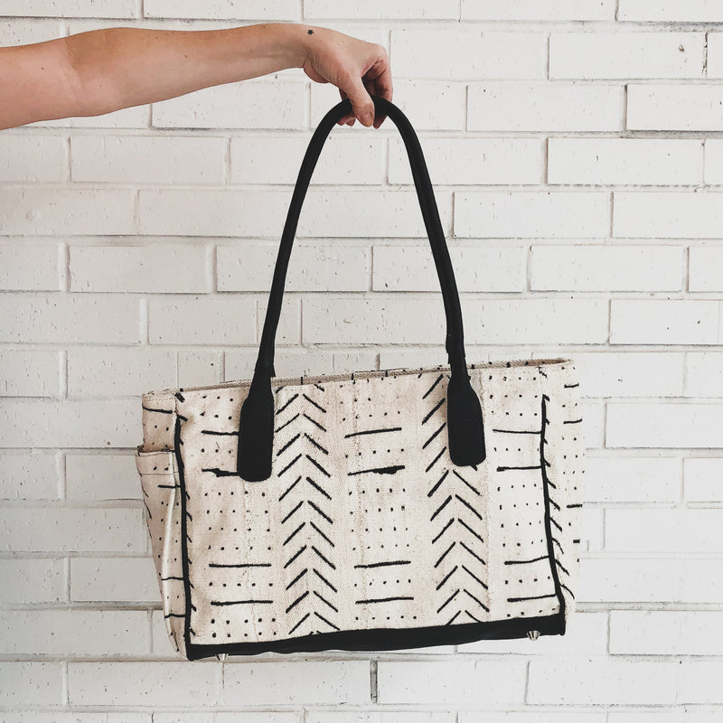 Sirleaf Tote - Kenyan materials and design for a fair trade boutique