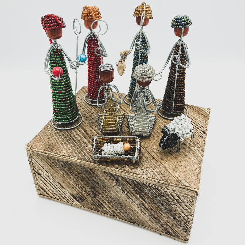 Beaded Nativity Set - Kenyan materials and design for a fair trade boutique