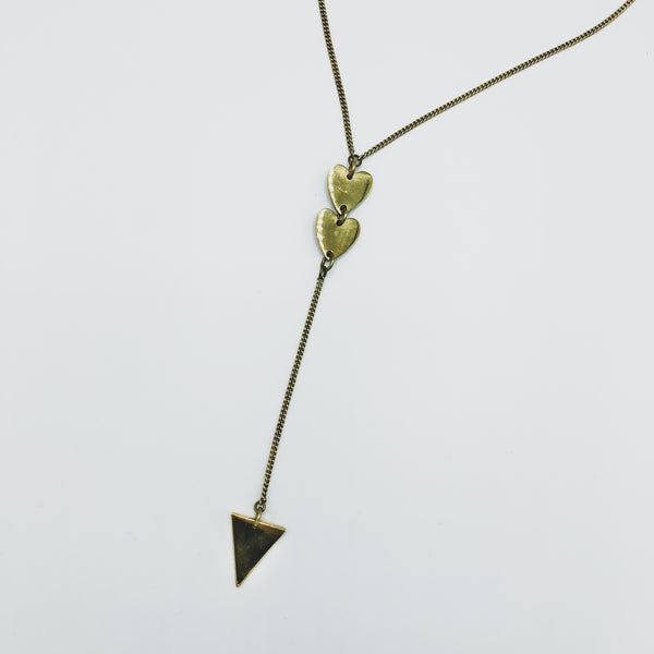 Brass Heart Pendant Necklace - Kenyan materials and design for a fair trade boutique