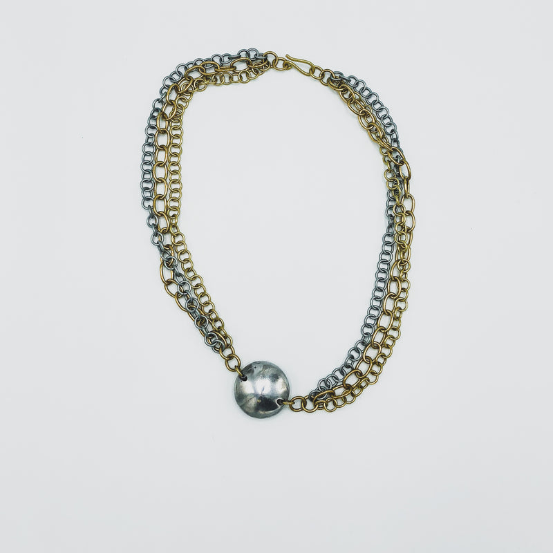 Chain Necklace - Kenyan materials and design for a fair trade boutique