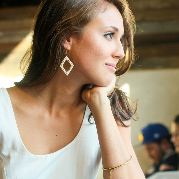 Studded Horn Earrings