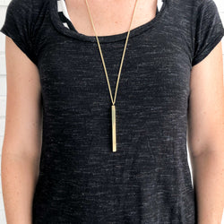 Brass Plank Pendant Necklace - Kenyan materials and design for a fair trade boutique