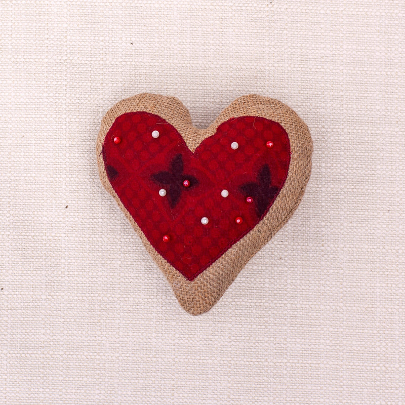 Heart Pin Cushion - Kenyan materials and design for a fair trade boutique