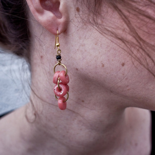 Glass Lace Cluster Earrings - Kenyan materials and design for a fair trade boutique