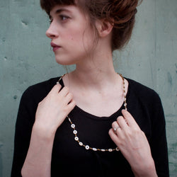 Ostrich Eggshell Necklace - Kenyan materials and design for a fair trade boutique